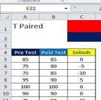 Uji T Paired dengan Excel