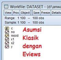 Uji Asumsi Klasik dengan Eviews