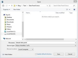 Cara Menyimpan File EViews