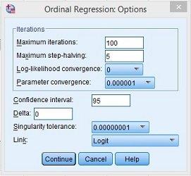 Opsi Regresi Ordinal SPSS