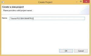 Buat Project Baru SmartPLS