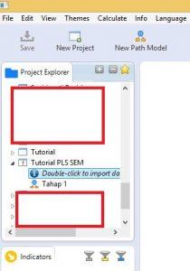 Import Data CSV ke SmartPLS