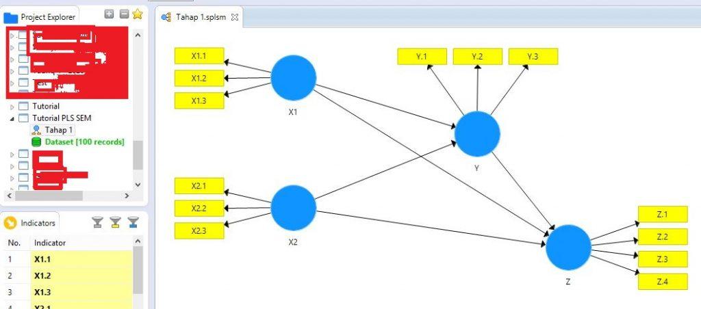 Membuat Path Model Baru Untuk PLS SEM