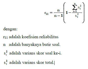 Penjelasan Uji Reliabilitas Instrumen Lengkap Uji Statistik