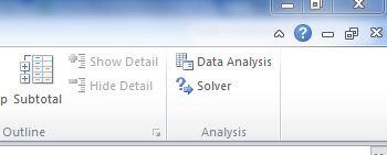 Add Ins Data Analysis