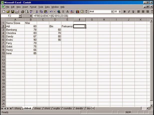 Contoh 1: Statistik Berbasis Komputer