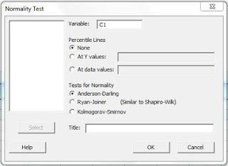 Langkah Uji Normalitas dengan Minitab