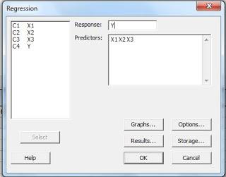 Langkah Regresi Linear Berganda dengan Minitab