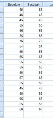Dataset Uji T Paired dengan SPSS