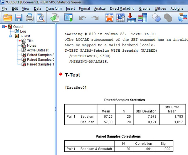 Output Uji T Paired SPSS