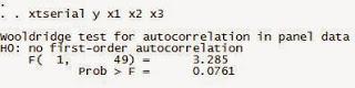 Autokorelasi Data Panel dengan STATA