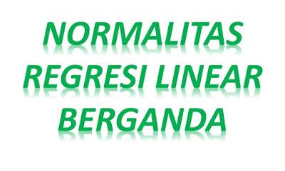 Uji normalitas regresi linear berganda